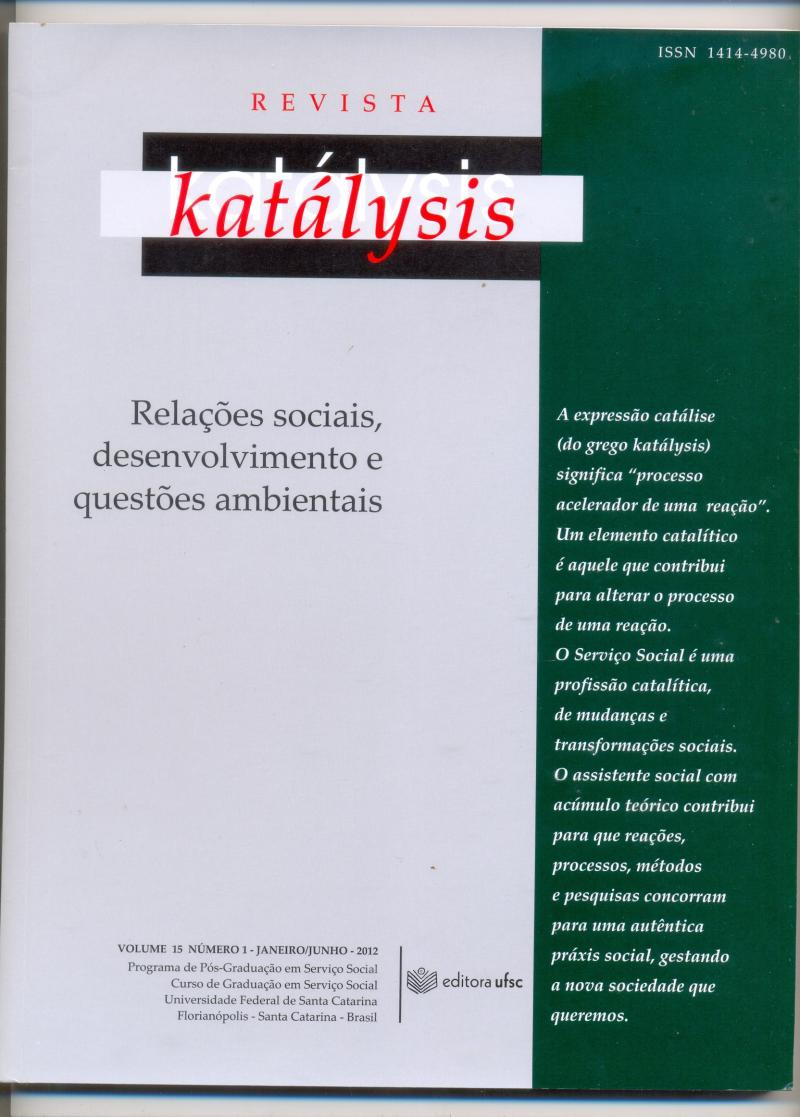 Revista Katálysis, nº 15 - 2012