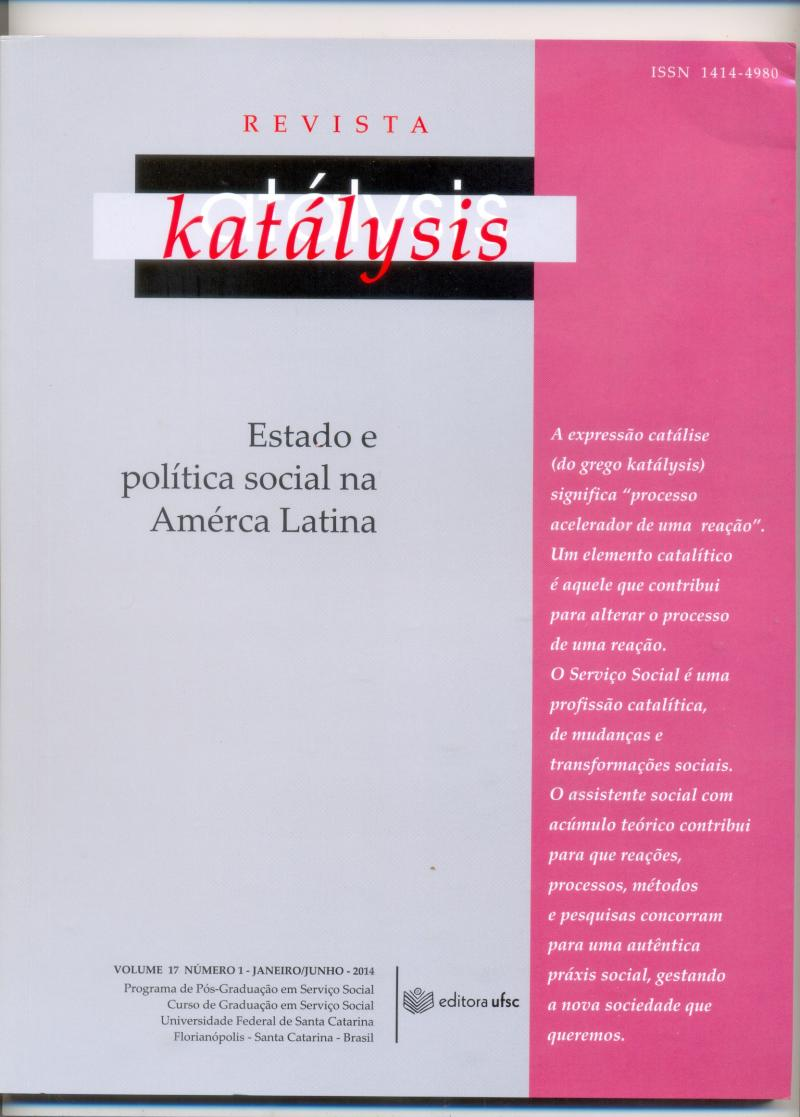 Revista Katálysis , nº17 - 2014
